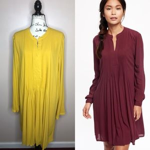 NWT Old Navy long sleeve pintuck swing dress XXL